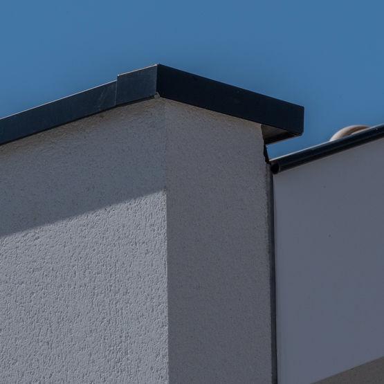 couvertine aluminium en continu avec profil sur mesure. Black Bedroom Furniture Sets. Home Design Ideas