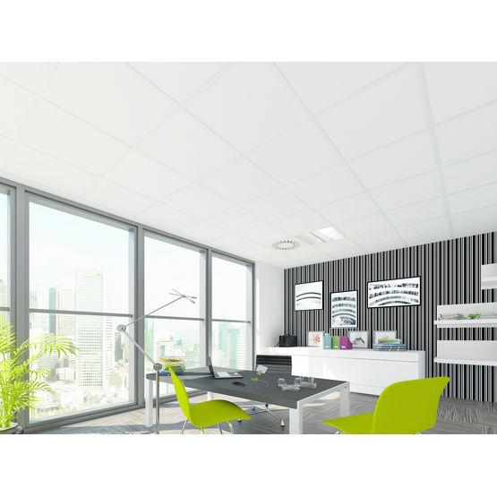 Dalle de plafond acoustique en trois dimensions alpina armstrong - Plafond suspendu en dalles de 60 x 60 ...