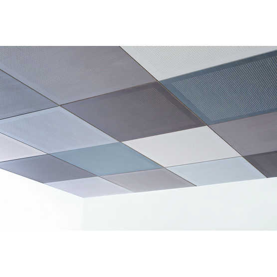 Dalle de plafond acoustique microperfor e oberflex for Plafond dalle suspendu