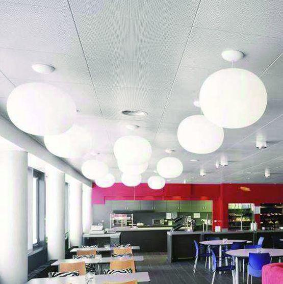 Dalle de plafond en m tal perfor micro rainures for Faux plafond perfore