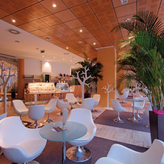 dalles pour plafond en bois m lamin ou plaqu madera. Black Bedroom Furniture Sets. Home Design Ideas