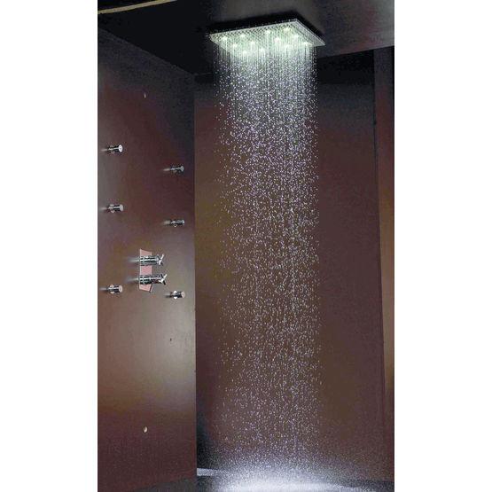 douche de plafond avec clairage int gr dream rectangular bossini. Black Bedroom Furniture Sets. Home Design Ideas