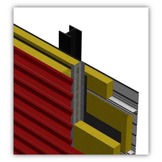 carteur en acier pour bardages isol s z thermique bacacier. Black Bedroom Furniture Sets. Home Design Ideas