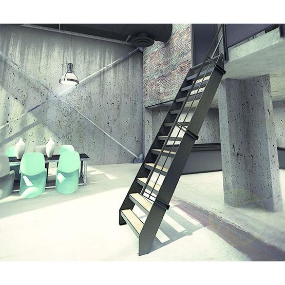 echelle de meunier bois et acier pour petits espaces kozac. Black Bedroom Furniture Sets. Home Design Ideas