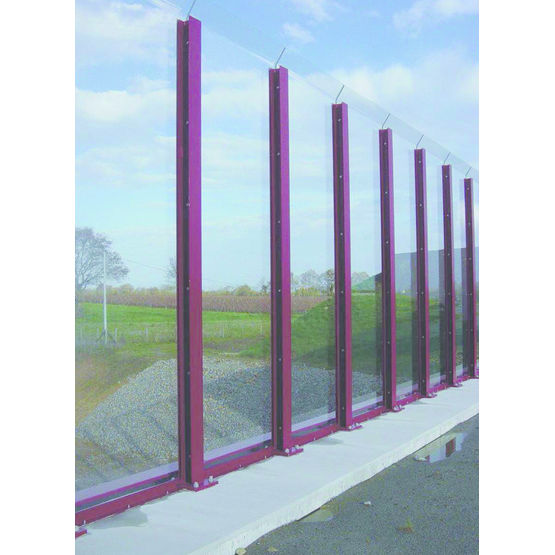 Cran acoustique et antibruit en pmma transparent ou for Mur anti bruit exterieur