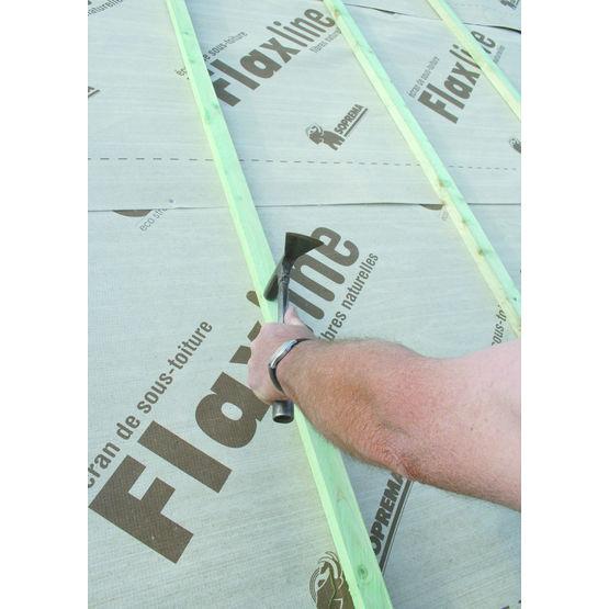 Ecran de sous toiture et pare-pluie en fibres de lin   Flaxline - Soprema