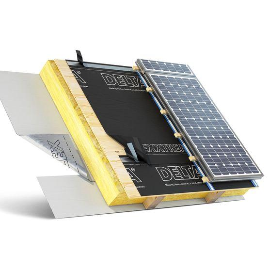 Écran de sous-toiture non inflammables pour panneaux solaires | Delta Exxtrem - DOERKEN - Écrans ...
