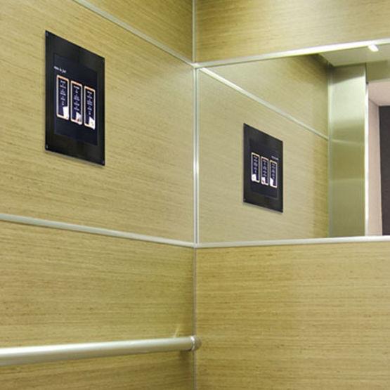 cran multim dia pour ascenseur sodiview sodimas. Black Bedroom Furniture Sets. Home Design Ideas