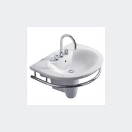 El ments de salle de bain bord incurv et porte serviette int gr expression porcher - Element de salle de bain ...