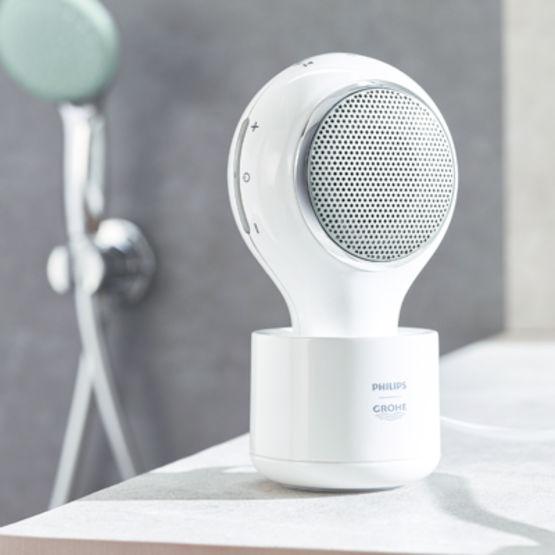 Enceinte haut parleur connexion bluetooth utilisable - Enceinte bluetooth douche ...