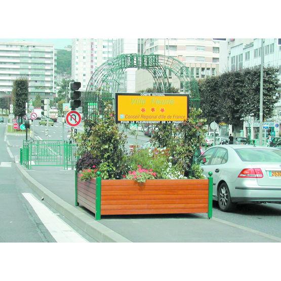 Entr e de ville fleurie jardini re gloriette espace for Espace vert urbain
