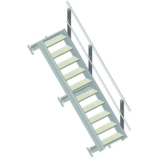 escalier aluminium en kit escalier en kit somain. Black Bedroom Furniture Sets. Home Design Ideas