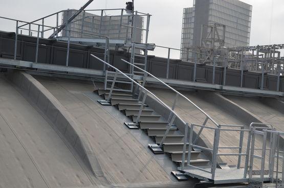 Escalier de talus en PVC | Escalier de talus MARCHELIER - AGRU