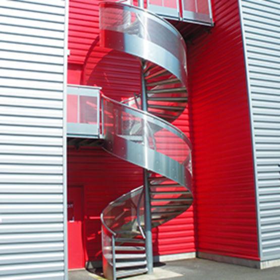 Escalier Design Helicoidal De Securite Escalier Voilalu