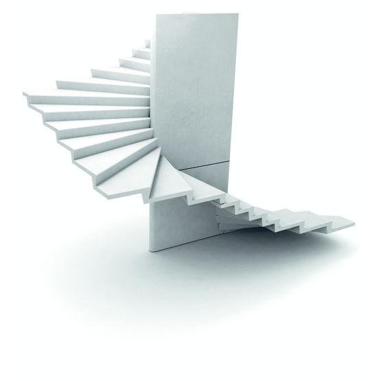 Escalier en b ton f t ovo de de 168 cm de longueur escalier h lico dal - Escalier colimacon petit diametre ...