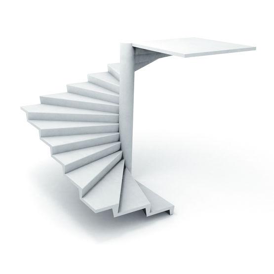 escalier en b ton noyau avec 125 cm de passage libre escalier h lico dal noyau angle 18. Black Bedroom Furniture Sets. Home Design Ideas