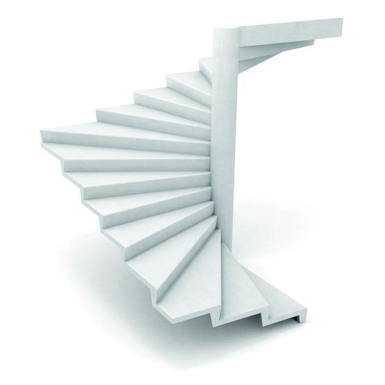 Escalier en béton à noyau de 30 cm de diamètre | Escalier Hélicoïdal à  noyau diamètre 30 cm et angle 16,87°