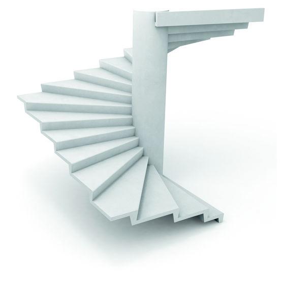 escalier en b ton noyau de 60 cm de diam tre escalier. Black Bedroom Furniture Sets. Home Design Ideas