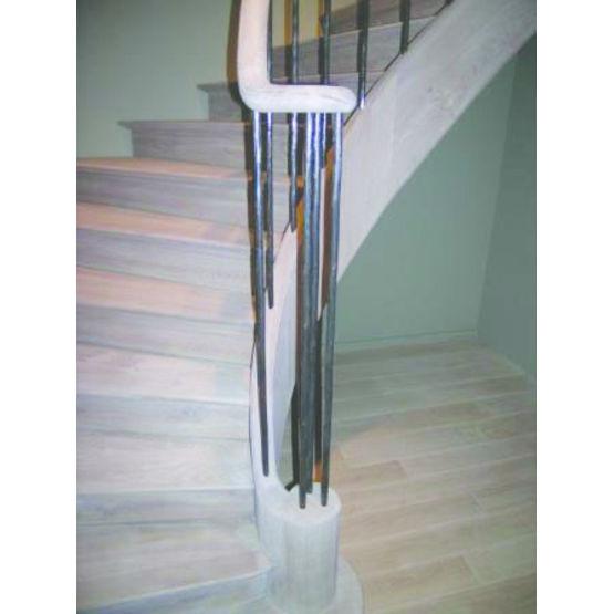 escalier en ch ne balustrade en fer forg signature. Black Bedroom Furniture Sets. Home Design Ideas