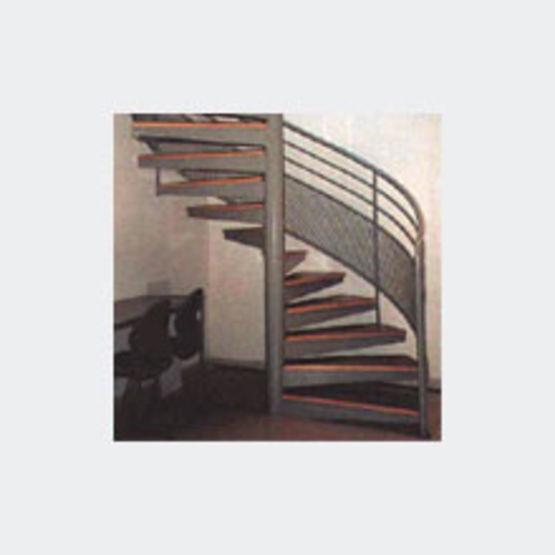 Escalier Helicoidal A Rampe Et Structure Acier Escalier A Rampe En Tole Et Grillage