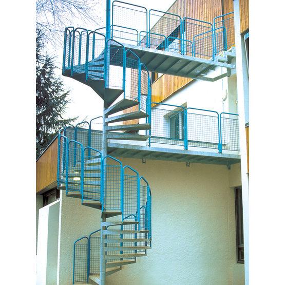 escalier h lico dal en acier adapt aux issues de secours escalier h lico dal secours bombrun. Black Bedroom Furniture Sets. Home Design Ideas