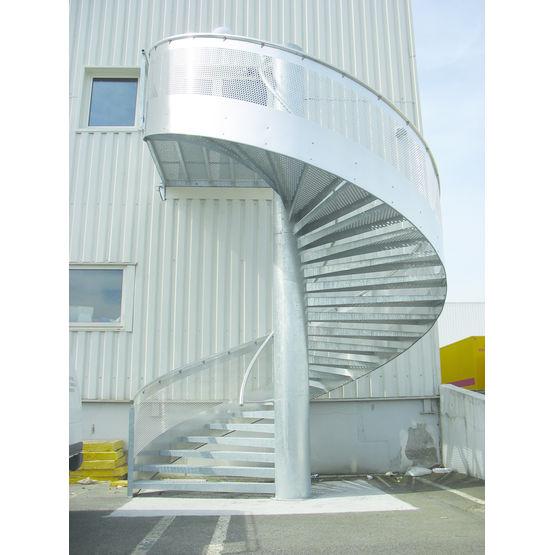 Escalier m tallique h lico dal escalier tube voilalu for Escalier helicoidal exterieur