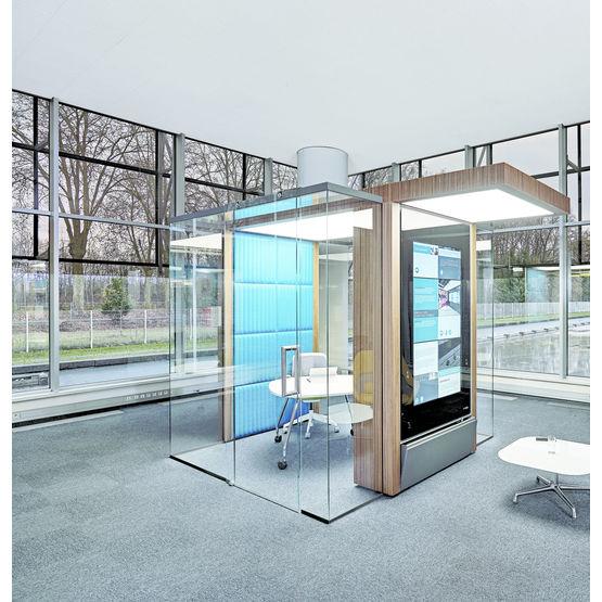 Espace de travail isol pour bureaux en openspace irys for Conception bureau open space
