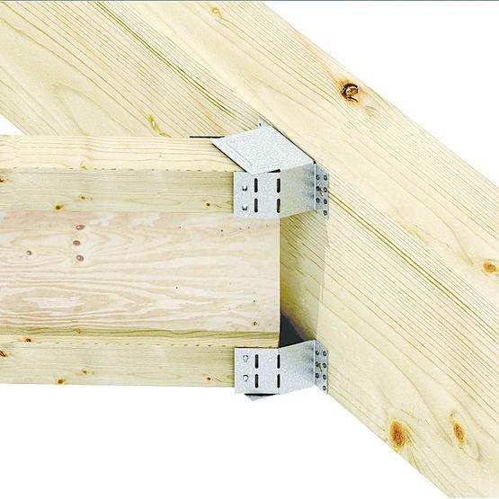 Trier pour solivage d 39 angle sur support bois ou b ton for Construction en bois ou beton