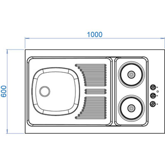 vier cuisinette plaques lectriques int gr es vier cuisinette poser cpae cpat moderna. Black Bedroom Furniture Sets. Home Design Ideas
