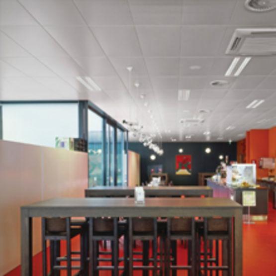 Faux plafonds acier en bacs ou panneaux jusqu 39 2 m de for Faux plafond perfore