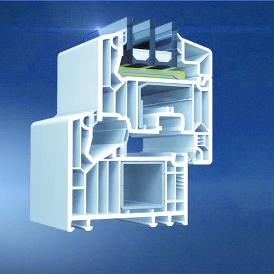 fen tre frappe en pvc triple vitrage jusqu 39 52 cm d. Black Bedroom Furniture Sets. Home Design Ideas