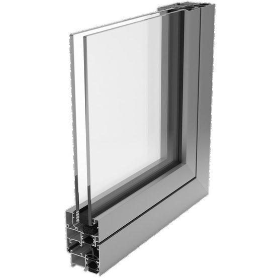 fen tre profil aluminium multichambres de 65 mm de profondeur rs 65 hh techpro fermetures. Black Bedroom Furniture Sets. Home Design Ideas