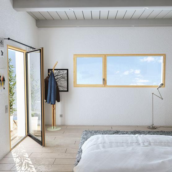Fenêtre Contemporaine Bois Aluminium à Ouverture à La Française
