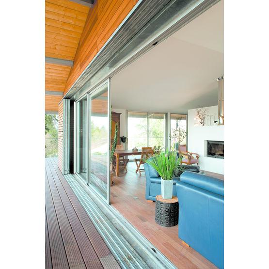 baie coulissante a galandage 1 vantail baie vitre coulissante aluminium menuiserie bouvet with. Black Bedroom Furniture Sets. Home Design Ideas