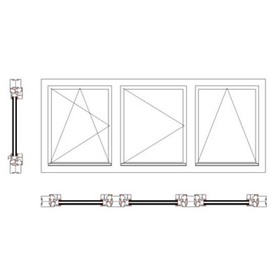 Fenêtre Et Châssis Fixe à Rupture De Pont Thermique Fenêtre Et
