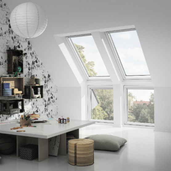 fen tre verticale formant all ge associer une fen tre de toit verri re d 39 angle velux. Black Bedroom Furniture Sets. Home Design Ideas