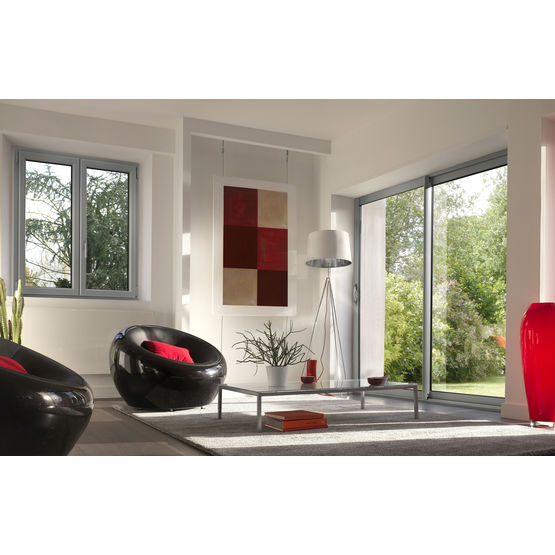 fen tres et porte fen tres en aluminium performance aluminium lapeyre. Black Bedroom Furniture Sets. Home Design Ideas