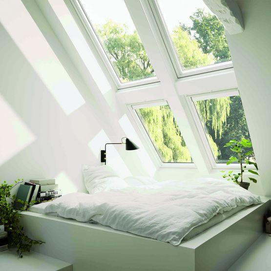 Finition int rieure peinture blanche sur tout type de for Type de fenetre de toit