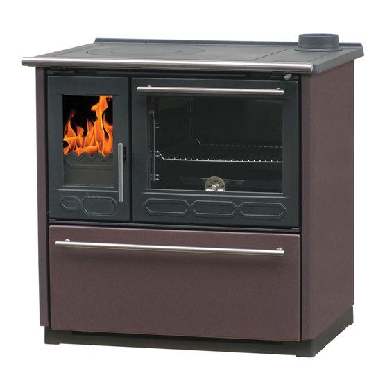 Bergamotte fourneauà bois 8 kW avec plaque en fonte Batiproduits # Poele A Bois Avec Plaque De Cuisson