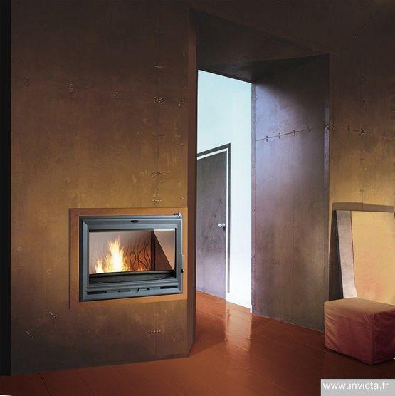 Grand Foyer Exterieur : Foyer options bois kw en fonte avec post