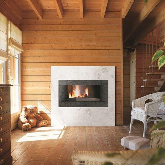 Grand Foyer Et Petit Foyer : Foyer décor symphonie kw à post combustion et