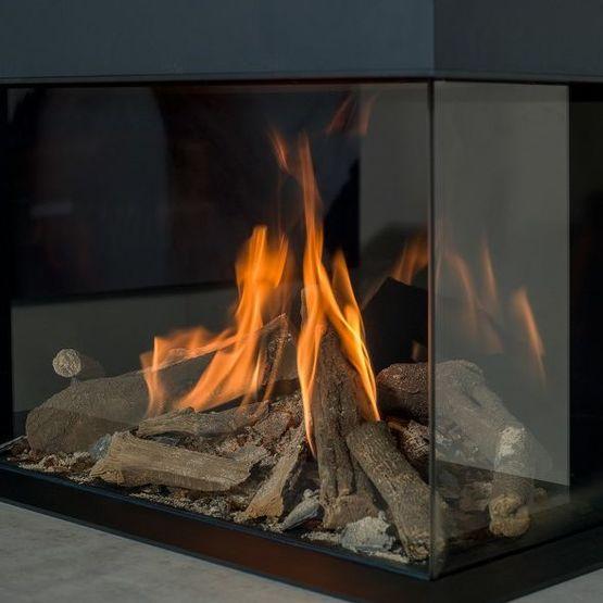 Foyer chemin e gaz faber matrix effet feu de bois matrix for Cheminee feu de bois