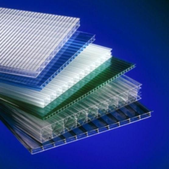 Gamme de plaques alv olaires 2 6 peaux en polycarbonate lexan thermoclear - Plaques polycarbonate leroy merlin ...