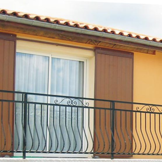 Garde corps barreaudage galb pour balcon et rampant - Habillage balcon ...
