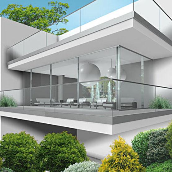 garde corps avec vitrage en saillie pauli france. Black Bedroom Furniture Sets. Home Design Ideas