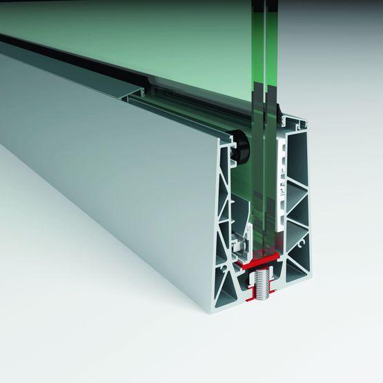 Garde corps en aluminium et verre encastr faraone srl - Profile aluminium garde corps ...