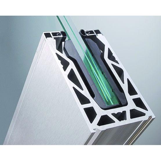 garde corps en verre lamin pris en pied verticalit r glable fenderglass miroiterie de. Black Bedroom Furniture Sets. Home Design Ideas