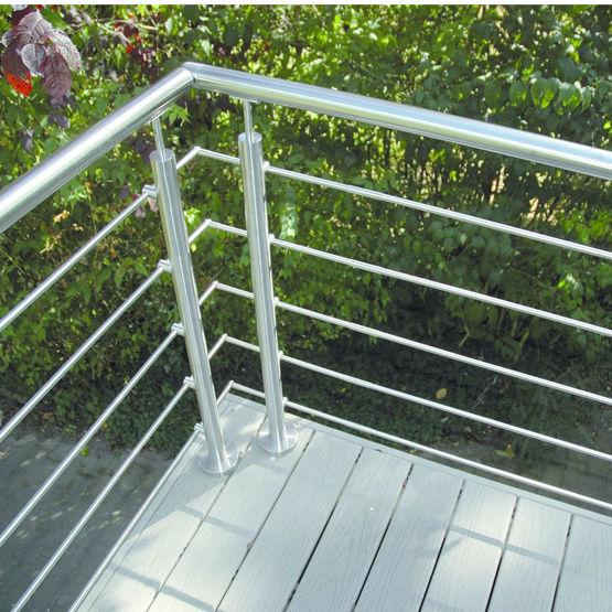 Garde-corps inox pour palier, escalier ou balcon | Oxynov - Deck-Linéa
