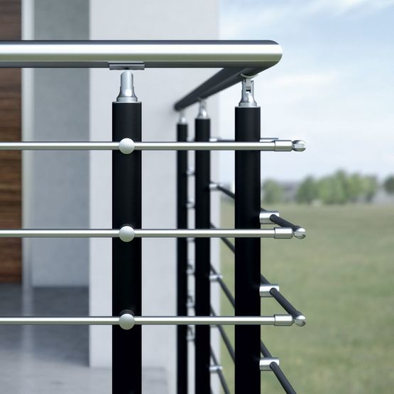 garde corps inox sur mesure crosinox rail solutions croso france. Black Bedroom Furniture Sets. Home Design Ideas