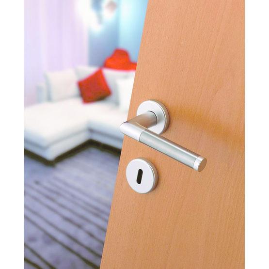 garniture aluminium et inox pour porte int rieure amsterdam hoppe. Black Bedroom Furniture Sets. Home Design Ideas